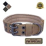 S.Lux Collares de Perro de Nylon, Anti-Desgaste Entrenamiento táctico al Aire Libre Cinturones de Perro de led Collar de Perros Grandes Negro Verde Marrón Collar para tu Perro
