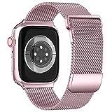 ToouYoor Correa Compatible con Apple Watch 38mm 40mm 41mm 42mm 44mm 45mm, Pulsera de Malla Metálica de Acero Inoxidable para iWatch Series SE 7 6 5 4 3 2 1,Oro rosa,38/40/41mm
