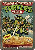 ZJLVMF Teege Mutant Ninja Turtles Cereal Box Art 12' x 16' Retro Look Metal