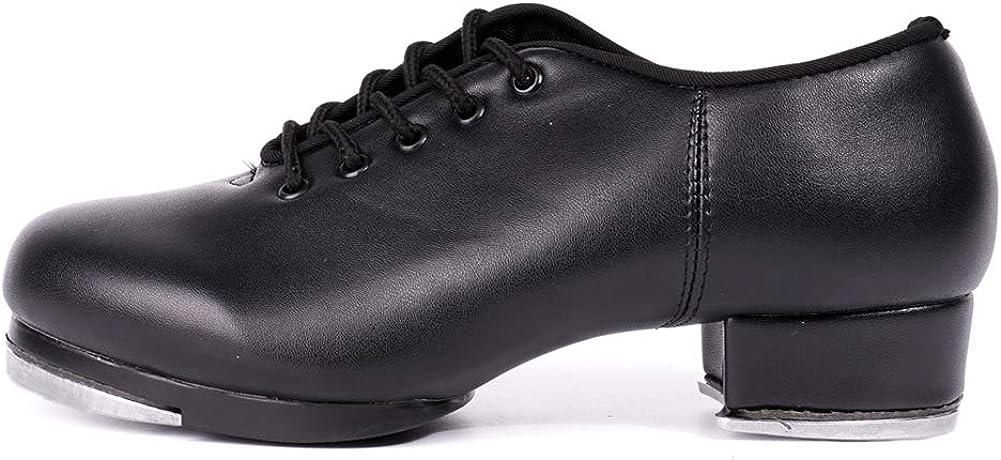 HROYL Boys & Grils Tap Shoes Unisex Tap Shoes Tap Shoes for Kids Tap Shoes for Toddler Girls,TLdance5