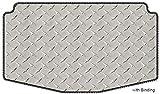 Intro-Tech OP-102-DP Diamond Plate Cargo Area Custom Floor Mat for Select Opel Opel Models - Simulated Aluminum, Small, Silver