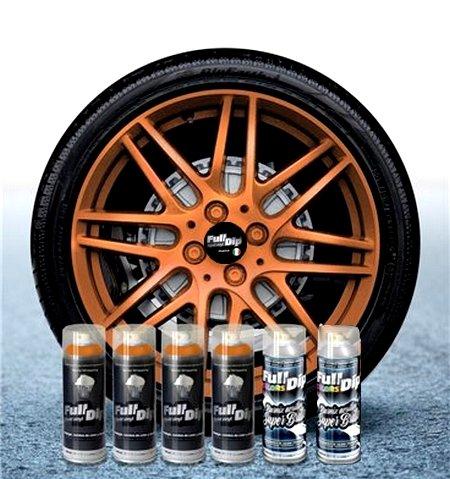 Sophisticauto Lot de 6 Sprays Full Dip Vinyles liquides Bronze METALLISES Brillant pelable 400 ML