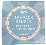 12-Pack .010 Gauge High E String Single Electric Guitar Strings Individually Wrapped 10 Gauge Pack of 12