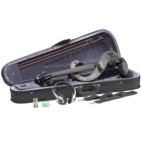 Stagg EVN 4/4 BK Violino Elettrico Completo 4/4, Nero