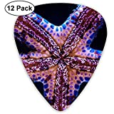 Pink Blue Starfish Guitar Picks Set 12 Púas de ukelele, que incluyen 0.46 mm, 0.71 mm, 0.96 mm guitarra acústica Pick and Pick Box