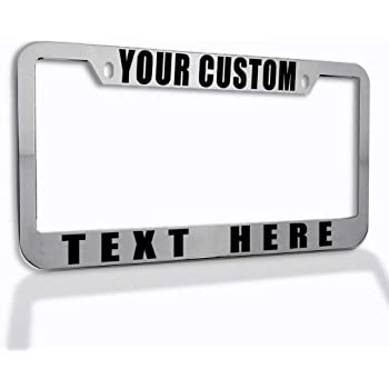 Speedy Pros Custom License Plate Frame Custom Personalized Text Funny Metal Cute Car Accessories License Plate Holder Black 2 Holes 1 Frame