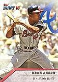 2016 Topps Bunt #192 Hank Aaron Baseball Card