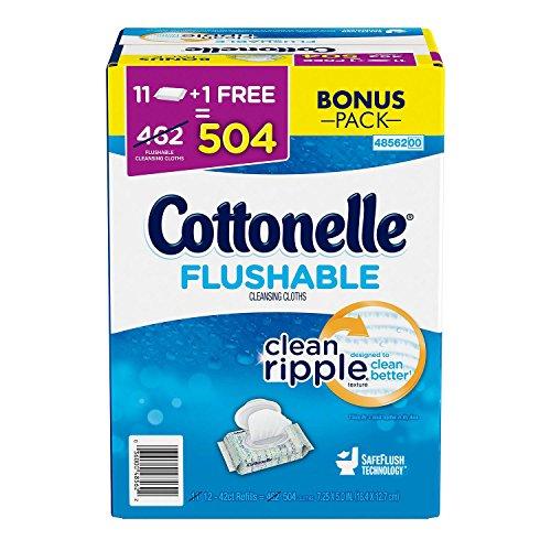 Cottoelle Flushable Cleansing Cloths, 8 Pound