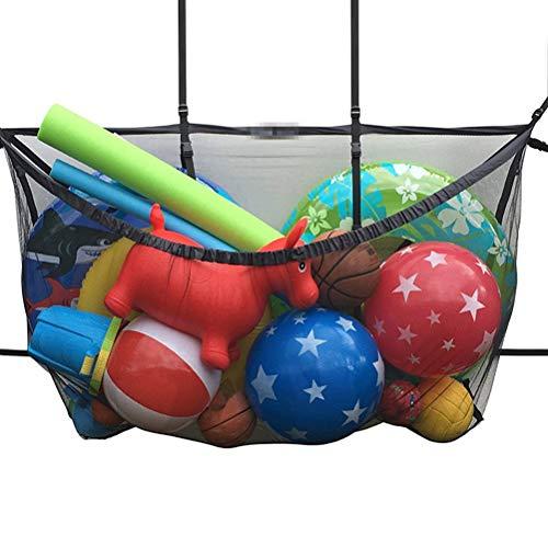 CZ-XING Bolsa de Malla con cordón para Deportes de Gran Capacidad, Bolsa organizadora de artículos de Buceo para Piscina, Bolsa de Almacenamiento de balón de fútbol
