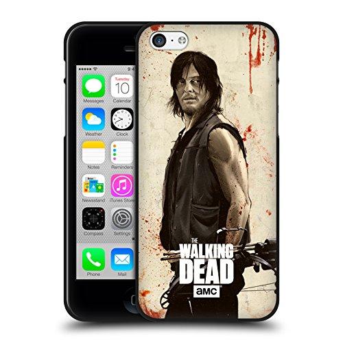Head Case Designs Oficial AMC The Walking Dead Daryl Angustiado Ilustraciones Funda de Gel Negro Compatible con Apple iPhone 5 / iPhone 5s / iPhone SE 2016