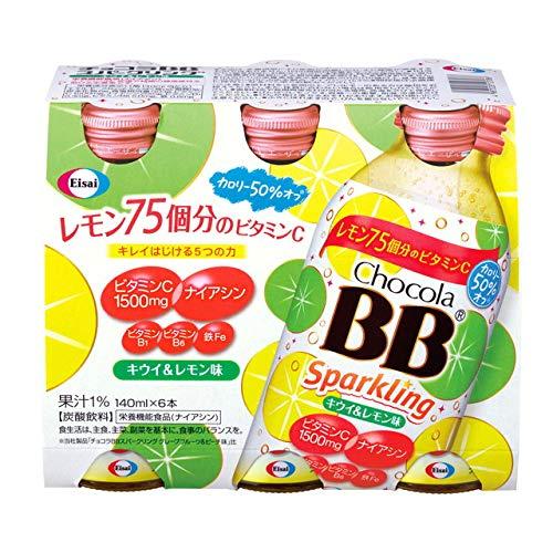 ◆チョコラBBスパーリング キウイ&レモン味 140ml×6本