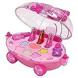 F Fityle Kit de maquillaje de simulación para niñas, juego de cosméticos para niños con estuche de cosméticos para cumpleaños, Navidad, juego de maquillaje de