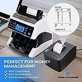 Banknotenzähler für Gemischte Geldscheine mit Wertzählung MUNBYN UV MG IR UV MW 3D SN 2 CIS Geldzählmaschine Banknotenzählmaschine für Euro-Banknoten - 7