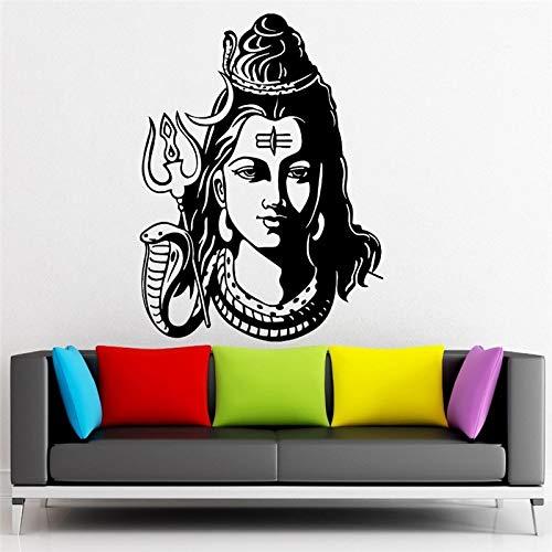 mlpnko Estatua de Buda Indio Yoga Dios Budista Etiqueta de la Pared Dios Shiva Religin hind Etiqueta de la Pared Decoracin del hogar 81x123cm