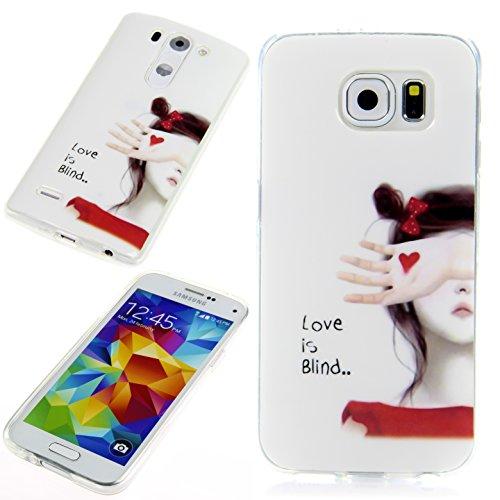 Handy Lux® Schutz Hülle Etui Silikon TPU Cover Hülle Design Motiv für LG G3 s - Love is blind
