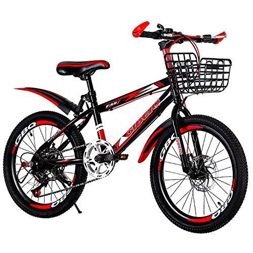 Hadishi Bicicleta para Niños-Bicicleta De Montaña, Bicicletas Plegables para Estudiantes Ligeras Mini Portátiles Bicicletas Plegables para Hombres Y Mujeres A Prueba De Golpes -,Rojo,24in