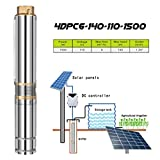 EnweGey Bomba Solar para Pozos Profundos, Bomba Sumergible Eléctrica Acero Inoxidable con...