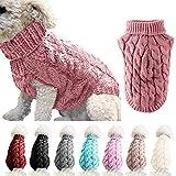 Ponacat Maglioni per Cani Pet Cucciolo Cappotti per la Stagione Fredda Abiti di Moda Dolcevita Maglieria Maglieria Outwear