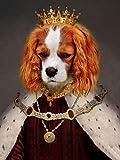 Personalized Canvas Prints Funny Home Decor Custom pet Portrait Animal Dog Decor Painting Wall Decor Cute Room Decor Family Sign