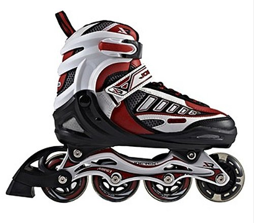 JOEREX Inliner verstellbar Gr. 31-34 ABEC5 rot Hockey Skates Speedskates Kinder
