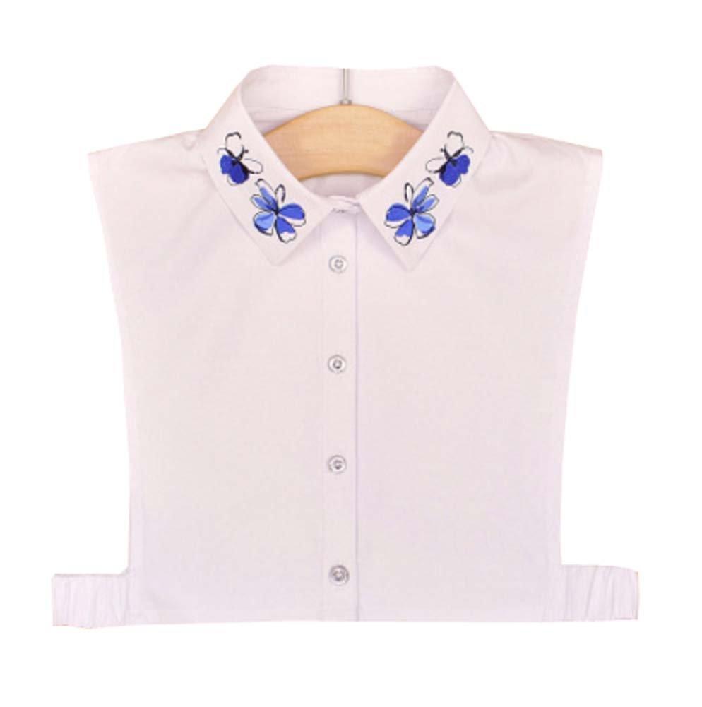 Black Temptation Cuello Falso de la Camisa Blanca Camisa Falsa de la Camisa Blanca clásica de la Moda, A12: Amazon.es: Deportes y aire libre
