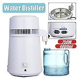 MZBZYU Destilador de Agua de 4L 750W Purificador de Agua de Acero Inoxidable Interno con Botella de colección Pura Máquina para el Alcohol Destilada Casera