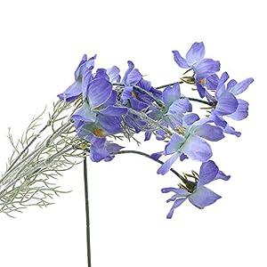 Artificial and Dried Flower 10head/Set Wedding livingroom Home Decoration Artificial Cosmos Flowers Fake Cloth Hand Flower Simulation Plastic Flower – ( Color: Blue )