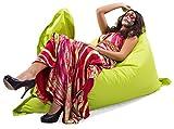 Kinzler S-10026/27 XXL Riesensitzsack, 140x180 cm, Sitzsack Outdoor Indoor, in vielen verschiedenen Farben, mit Innensack, apfel grün - 4
