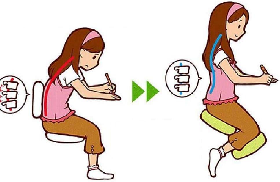 HXPH Chaise de agenouillé Ergonomique Genou Tabouret Bureau Gesundheitsstuhl confortablement Correction Dos rembourré Posture Gris Violet pour Le Bureau à Domicile Violetta