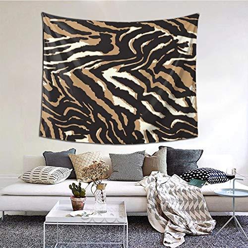 ZVEZVI Arte de Pared de Tapiz de Cuero de Cebra Grande para decoración de Dormitorio de Sala de Estar 60 × 51