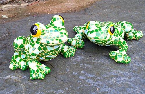 Mosaic Resin Garden & Tree Frog Pair Garden Animal Ornaments indoor Outdoor