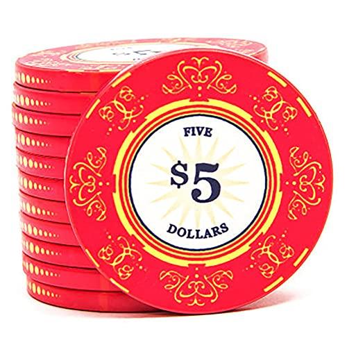YYHJ Set de Poker/Póquer con 50 Fichas,Profesional de Poker Texas Holdem,Juego de Fichas Mini Casino Portátil,Accesorios de Baccarat,Juegos de Mesa y Entretenimiento