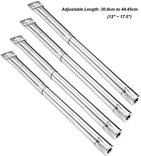 Wondjiont Universal Gasgrill Brenner für Master Schmiede, Perfekte Flamme, Uniflame, Lowes und andere Modell Grills, Ausziehbare Länge von 30,8 cm bis 44,5 cm (12