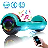 UNI-SUN 6.5' Bluetooth Hoverboard for Kids, Self Balancing Hoverboard with Bluetooth and LED Lights for Adults, UL 2272 Certified Hover Board, Green Hoverboard