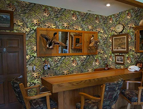 Mossy Oak Graphics Obsession Blind Camouflage Peel and Stick Wallpaper - Easy to Install Without The Mess of Traditional Wallpaper - 26' x 107' Rolls Cover 19.3 Square Feet