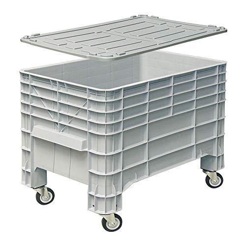 Vorratscontainer/Großbox mit Deckel, mit 4 Rollen, lebensmittelecht, LxBxH 1030x630x670 mm, 276 Liter