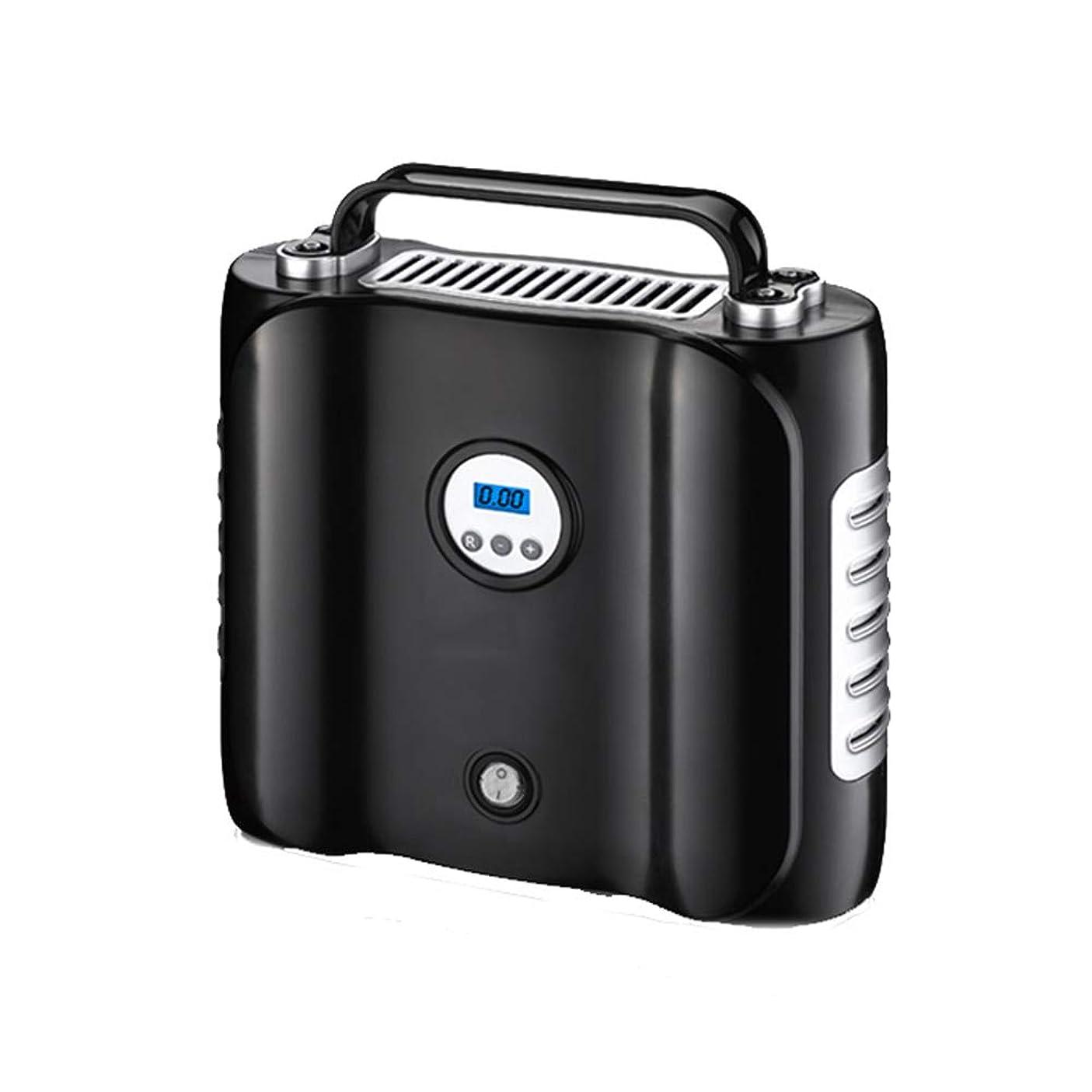 絶対に脱走手首QXKMZ ポータブル電動ポンプタイヤインフレータPSIタイヤポンプ自動デジタルタイヤインフレータ自動タイヤポンプLCDスクリーン収納が簡単