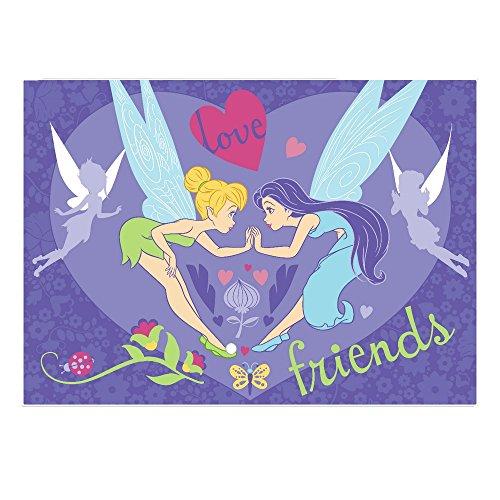 GUIZMAX Compatible avec Tapis Enfant Fee Clochette 133 x 95 cm Friends
