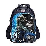 Jurassic Park - Mochilas de dinosaurios para escuela, bolsa de almuerzo, 03., L,