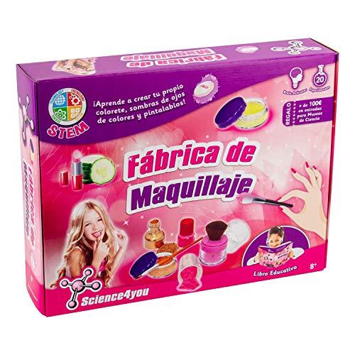 Science4you - Juego fábrica de maquillaje - El mejor regalo para las niñas