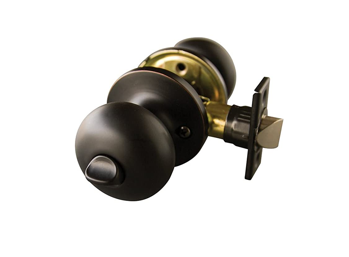 Design House 727388 Canton 6-Way Latch Privacy Door Knob, Oil Rubbed Bronze
