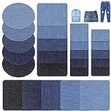 Nuluxi Toppe Termoadesive di Jeans Patch Ferro-on di Riparazione Mestieri di Riparazione di Patch Applique Patch per kit di riparazione Denim per Cucire o Stirare su Giacche DIY Jeans Borse Pantaloni