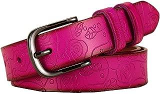 Women'S Fashion Belt Retro Leather Belt Casual Pin Buckle Belt