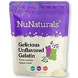 NuNaturals Premium Unflavored Gelatin Powder, 1 Pound, Unflavored