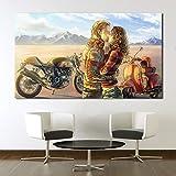 UHvEZ Rompecabezas de Madera 1000pcs Pareja besándose en Moto Rompecabezas de Madera Personalizados, imágenes Completas, Juguetes de Bricolaje para decoración de Adultos 50x75cm