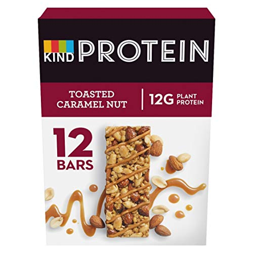 KIND High Protein Bars, Healthy Gluten Free & Low Calorie Snacks,Toasted Caramel Nut, 12 Bars