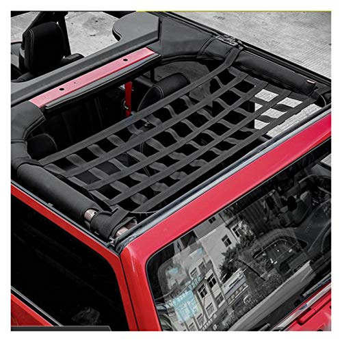 ZHANGHANG Heavy Duty Sunshade Soft Roof Net Exterior Network Storage Top Cover Car Hammock Cargo Rest Bed Fit For Jeep Wrangler JK YJ TJ JKU ZH