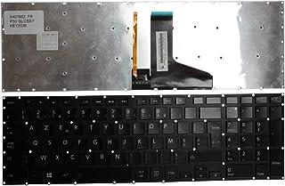 Keyboards4Laptops Francés Negro Brillante con retroiluminación Windows 8 Teclado de Repuesto para Ordenador portátil Compatible con Toshiba Satellite P50-C-179