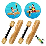 SubClap Floating Pool Inflatable Ride-On Row Toys 4PCS, Water Flume Balance Joust Tree Log Poop Games for...