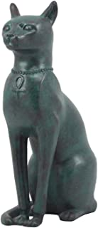Ebros Ancient Egyptian Sitting Cat Bastet Statue in Aged Bronze Patina Resin Finish 8.5